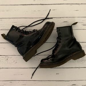 Dr Martens | Well Worn Black Patent 1460 Boot